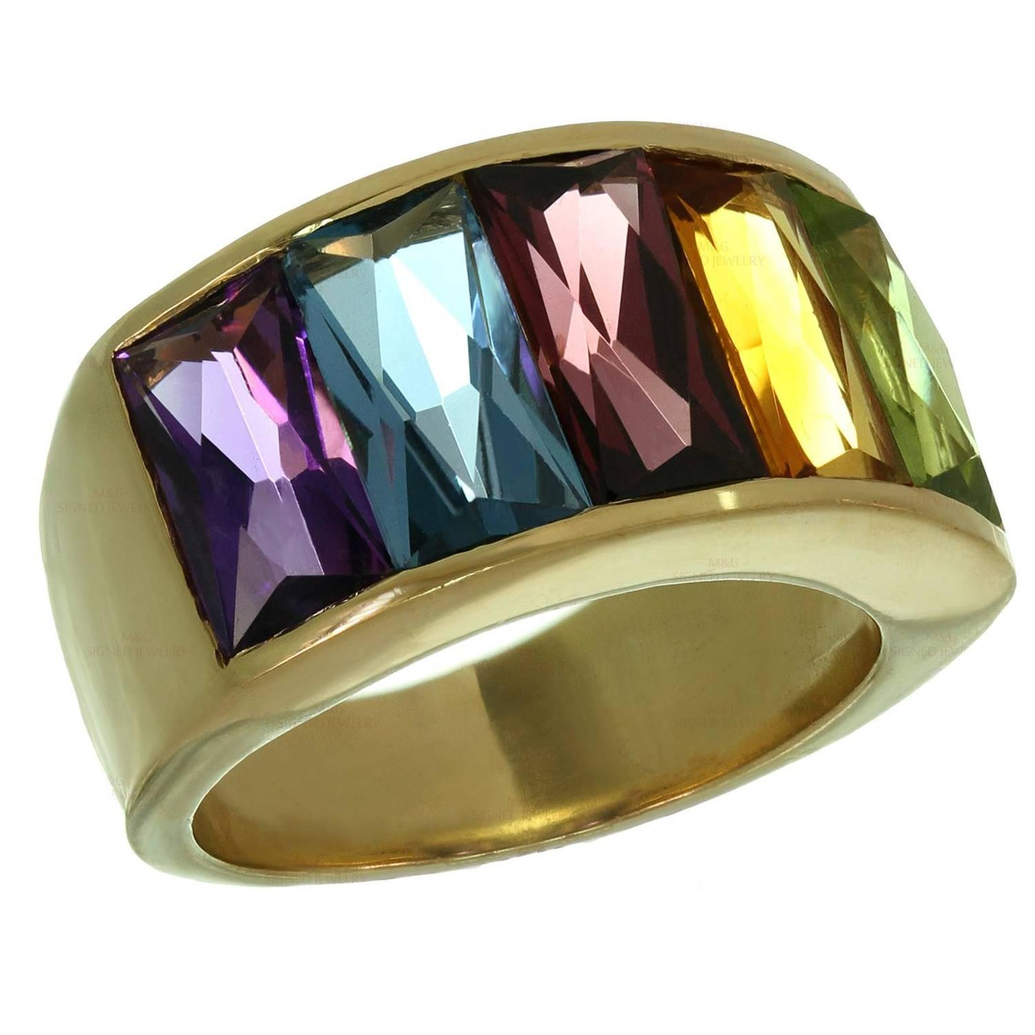 sapphire multicolor wedding engagement rainbow rings