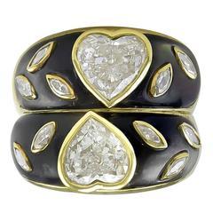 Romantic Double Heart Diamond Ring
