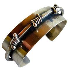 Jules Brenner Sterling Silver American Modernist Bracelet