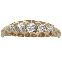 Antique Victorian 0.66 Carat Diamond and 18k Yellow Gold Five Stone Ring