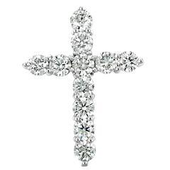 Diamond Gold Heart Cross Pendant