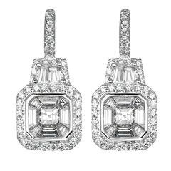 1.45 Carat Diamond Drop Earrings