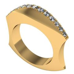 Zoe Stork and Sparkles Diamond and Gold Ring