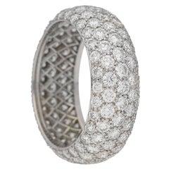 Tiffany & Co. Five row diamond Platinum band ring