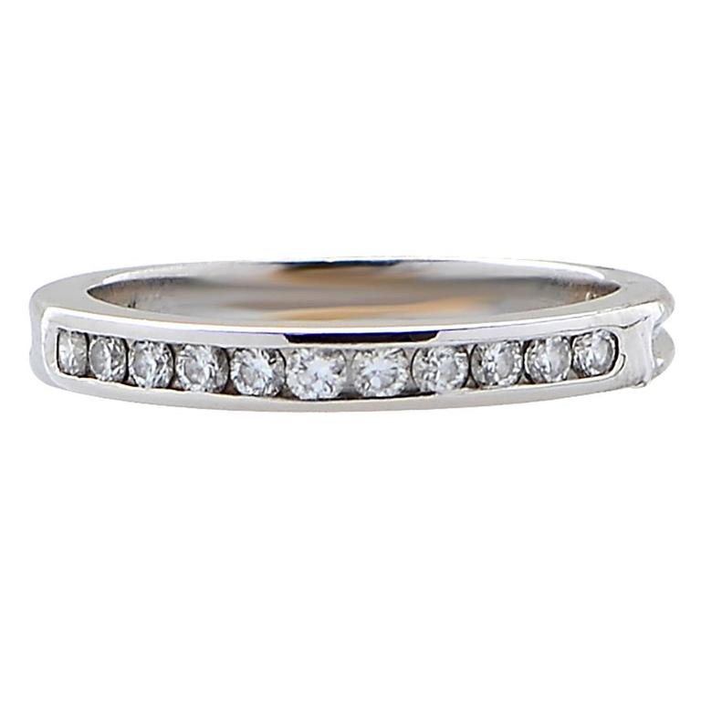 Tiffany & Co. Diamond platinum Band Ring For Sale