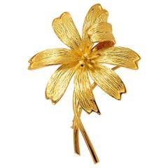 Tiffany & Co. Gold Flower Brooch