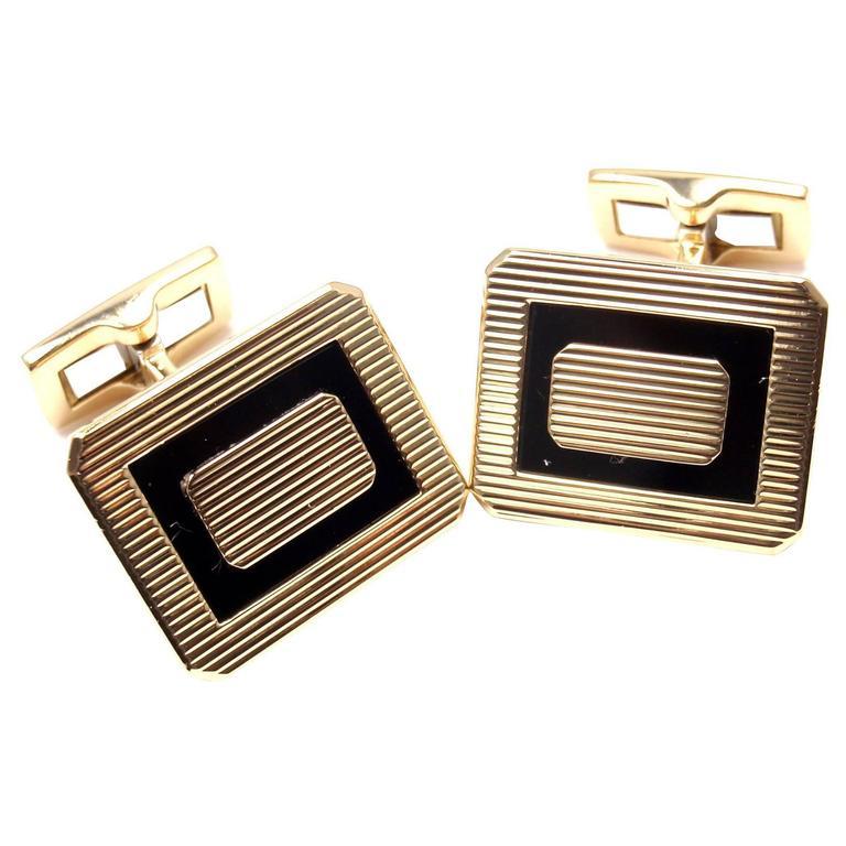 Piaget Black Onyx Gold Cufflinks