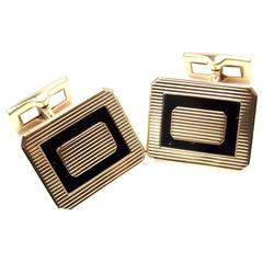 Piaget Black Onyx Gold Cufflinks