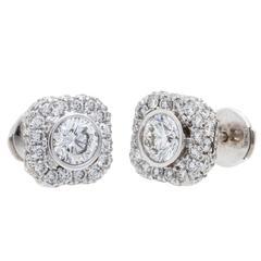 Gregg Ruth Diamond Gold Stud Earrings