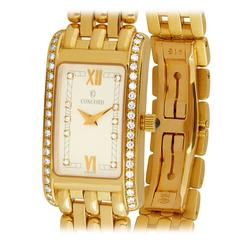 Concord Lady's Yellow Gold Diamond Veneto Quartz Wristwatch