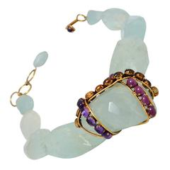 Iradj Moini Fluorite and Colored Gem Stone Statement Necklace