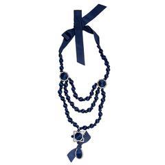 Lanvin Ribbon & Crystal Necklace