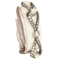 Lanvin Ribbons & Crystals Bracelet