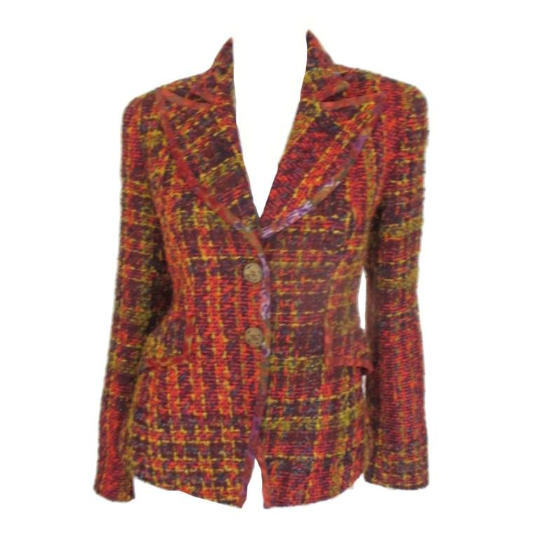 christian lacroix wool jacket size us 6