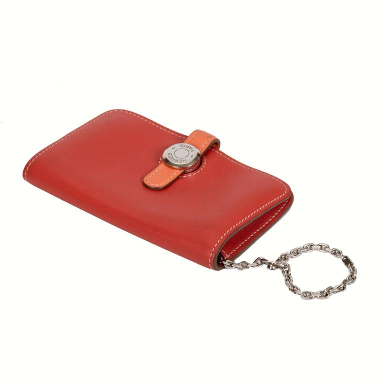 Hermès Bicolor Dogon Wallet With Chain For Sale