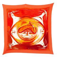 Hermes Orange Les Perles de Turkana Plisse Scarf