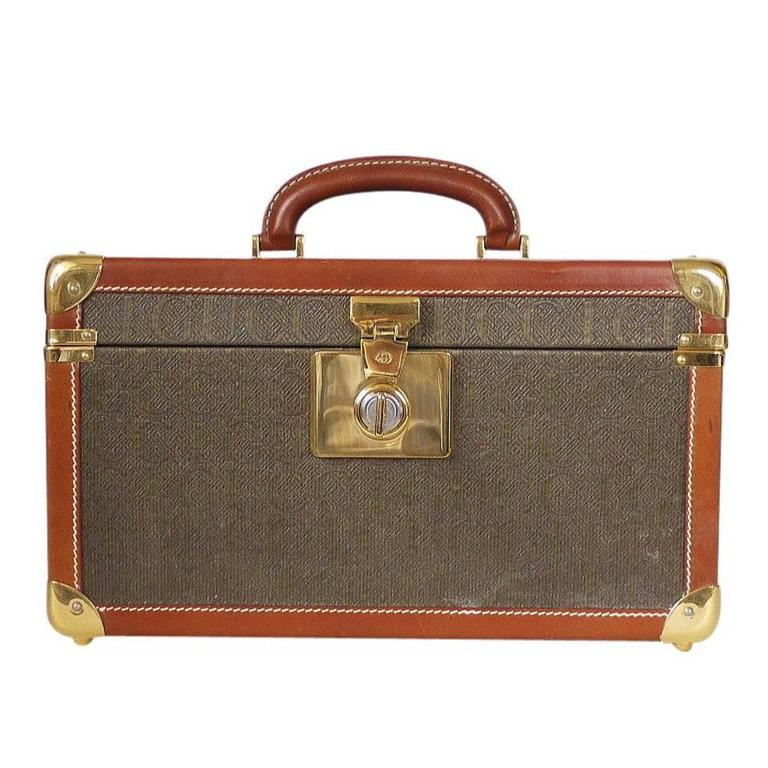 Vintage GUCCI Toiletry Case Travel Trunk Rare 1