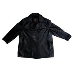 Belstaff Gold Label leather coat black men's motorcycle style size L
