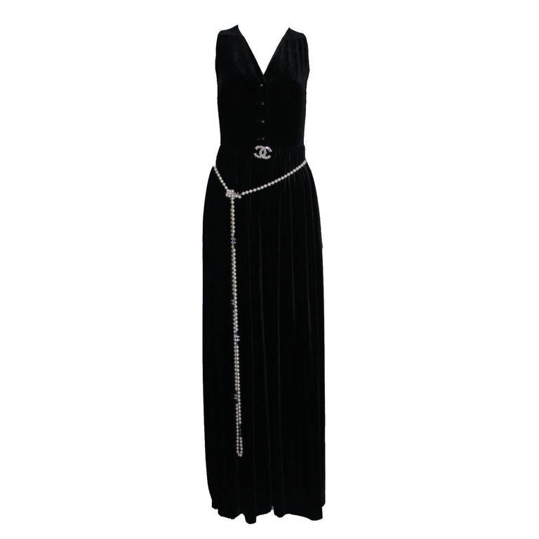 Fabulous Black Chanel Velvet Jumpsuit as seen on Celine Dion  1