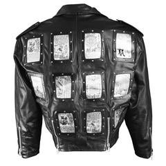 Rare Calugi e Giannelli Men's 'Violent Angels' Italian Leather Jacket, A/W 1988