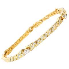Van Cleef & Arpels Marquise Diamond Gold Bracelet