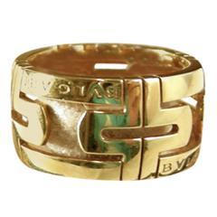 Authenticated Bulgari Gold Parentesi Ring