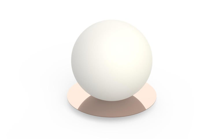 For Sale: Pink (Rose Gold) Bola Medium Table Sphere Lamp by Pablo Designs