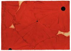 Donald Sultan - Five Reds with Flocked Centers, March 15, 2001