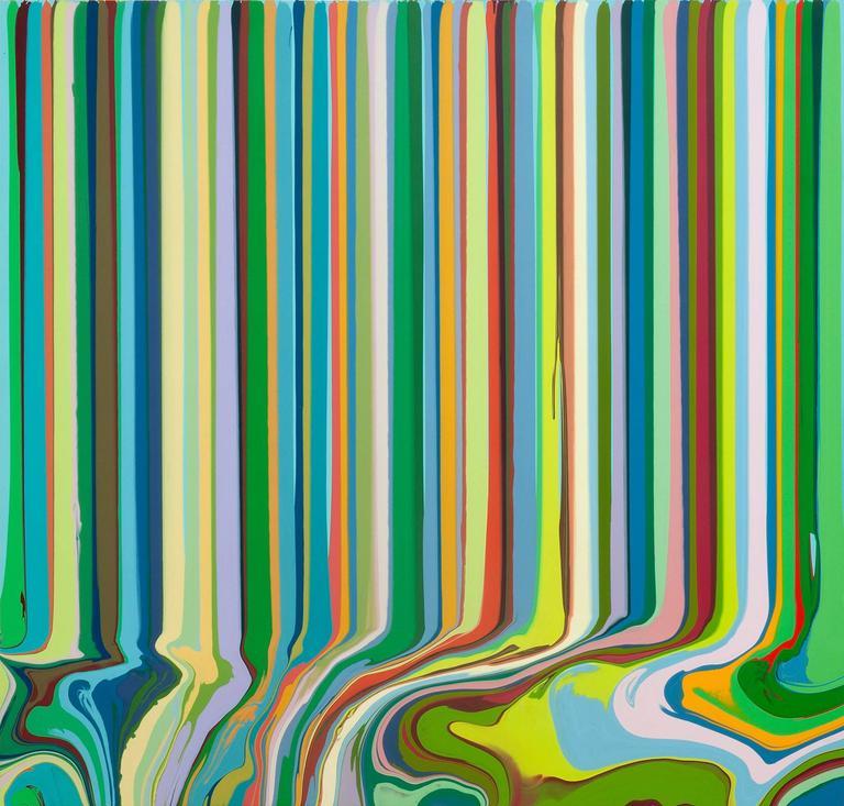 Ian Davenport - Phthalocyanine Green, Stack 1