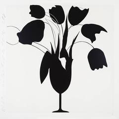 Black Tulips and Vase, Feb 26, 2014