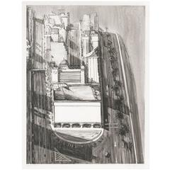 Scarce Wayne Thiebaud Lithograph, Cityscape, Marked 'Bon a Tirer', 2003