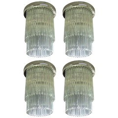 "Four Ceiling Lights, Labeled ""Cascade by Lightolier,"" circa 1970, American"