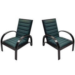 Pair of Reclining Lounge Chairs by Ward Bennett for Brickel, USA 1960s