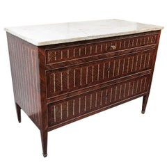 Early 19th Century, Herringbone and Mother-of-Pearl Commode