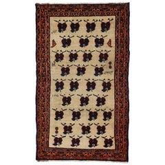 Vintage Persian Shiraz Accent Rug