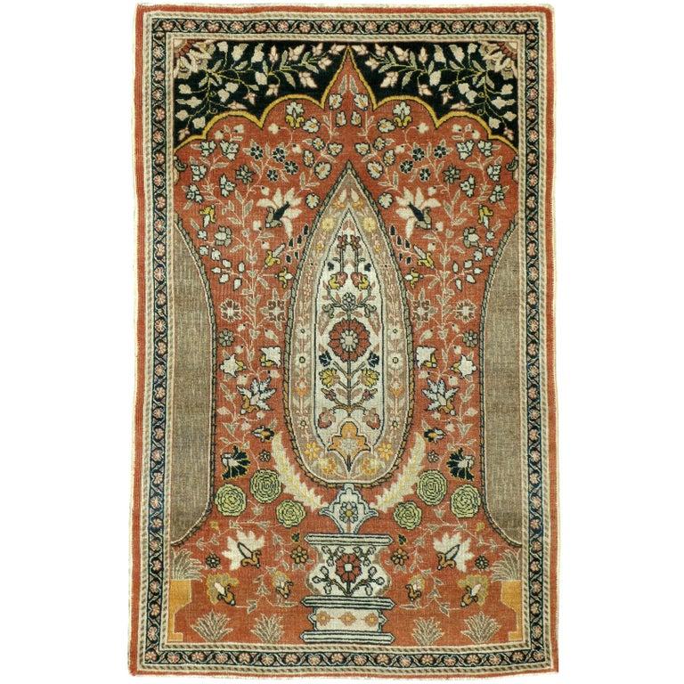 Antique Persian Tabriz Haji Jalili Rug For Sale