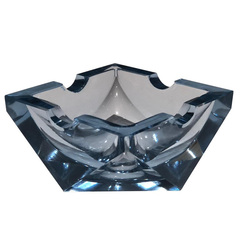 20th Century Vintage Art Deco Glass Ashtray, 1930-1940  For Sale