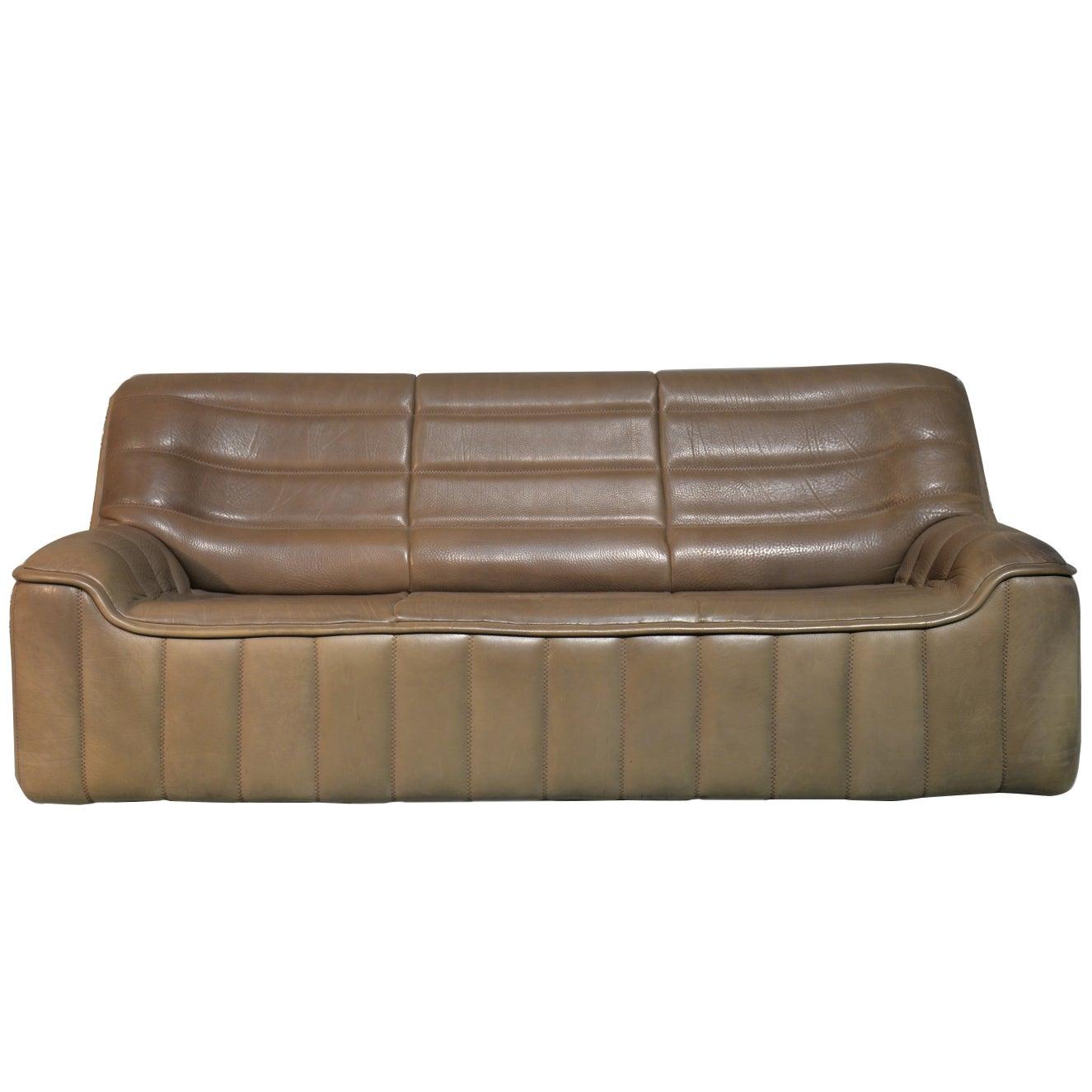 Vintage De Sede DS 84 Leather Sofa, Switzerland, 1970s