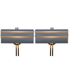 Artemide Italian Architectural Stria Wall Sconces or Lamps by Ernesto Gismondi