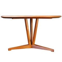 Danish Midcentury Coffee Table, Highly Unusual, Refurbished