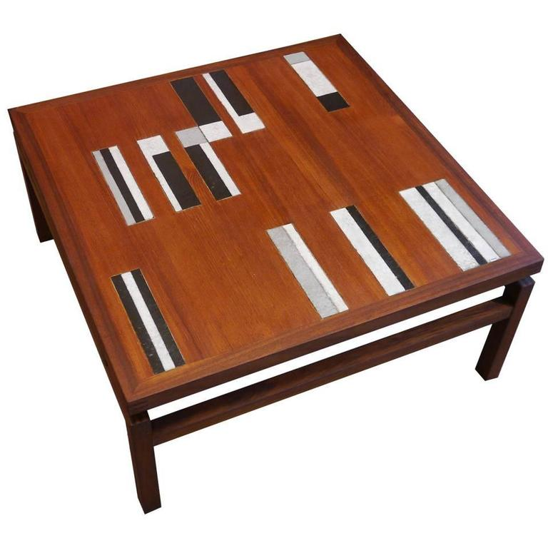 Very Rare Coffee Table By Roger Capron France Circa 1960