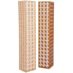 Jali Brazilian Contemporary Wood Floor Lamp by Lattoog