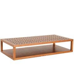 Ipanema Brazilian Contemporary Rectangular Wood Center Table by Lattoog