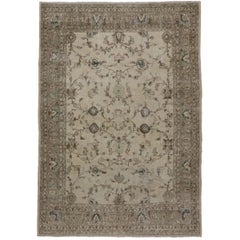 Distressed Vintage Turkish Sivas Rug with Shabby Chic Gustavian Style