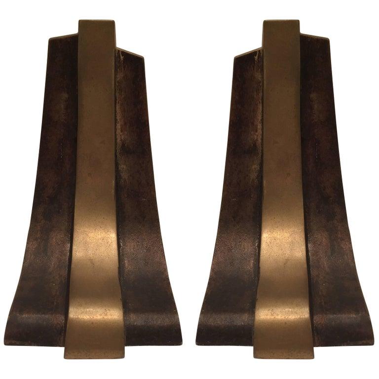 Pair of Esa Fedrigolli Esart Bronze Book Ends