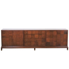 Renzo Rutili Walnut Credenza for Johnson Furniture Co., 1960s