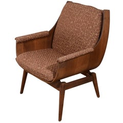 Vintage 20th Century Formed Wood Armchair