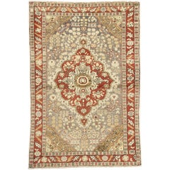 Modern Rustic Style Vintage Turkish Sivas Accent Rug, Entry or Foyer Rug