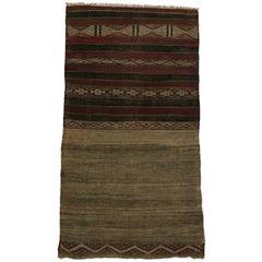 Vintage Berber Moroccan Kilim Rug, Flat-Weave Rug
