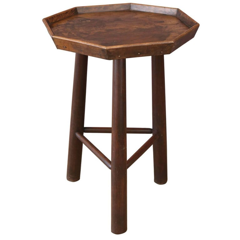 Octagonal Top Side Table
